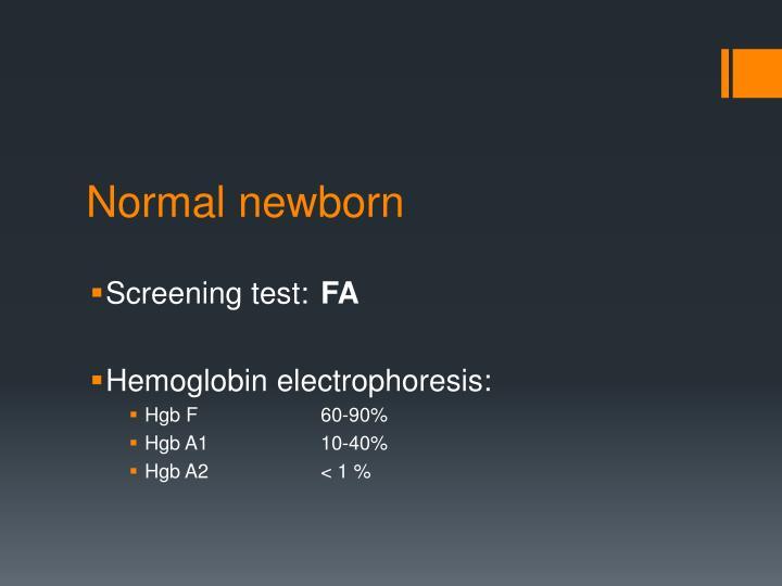 Normal newborn