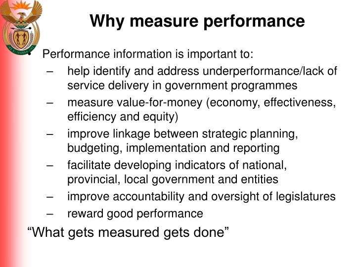 Why measure performance