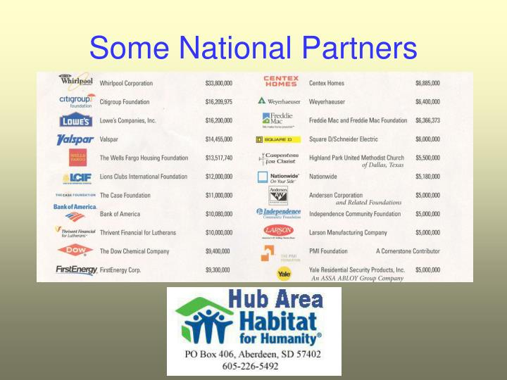 Some National Partners