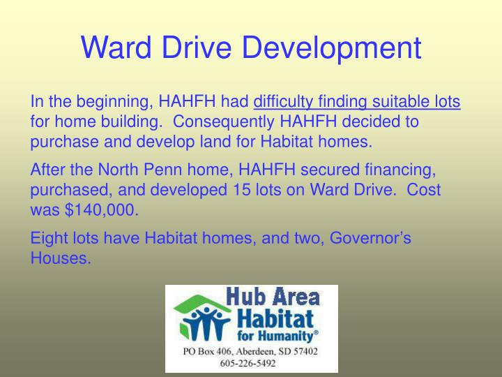 Ward Drive Development