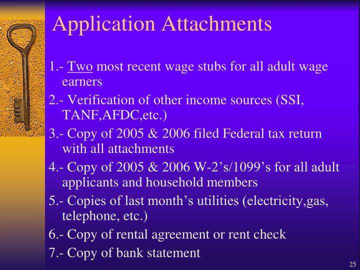 Application Attachments