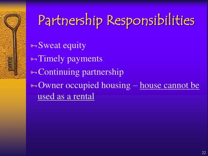Partnership Responsibilities
