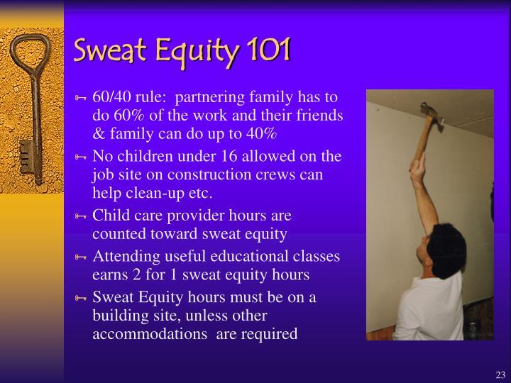 Sweat Equity 101