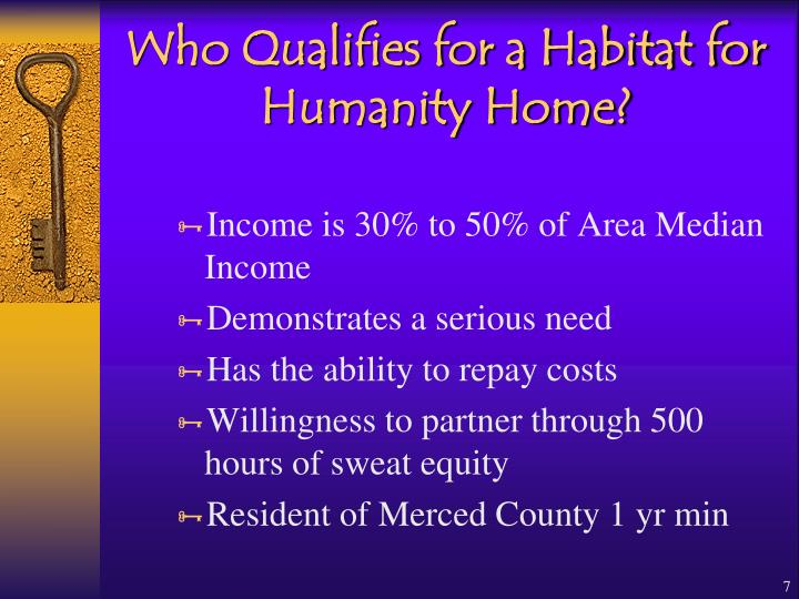 Who Qualifies for a Habitat for Humanity Home?