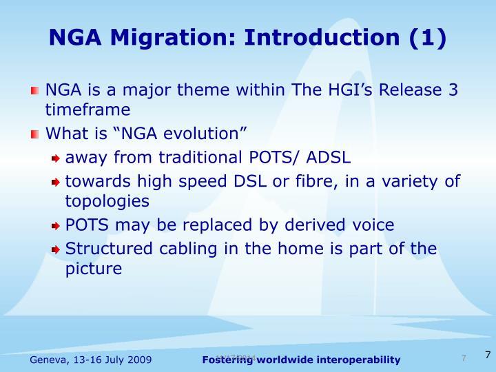 NGA Migration: Introduction (1)