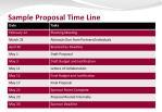 sample proposal time line
