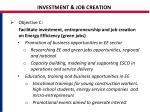 investment job creation