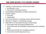 mid term review fy12 lessons learned