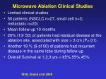microwave ablation clinical studies