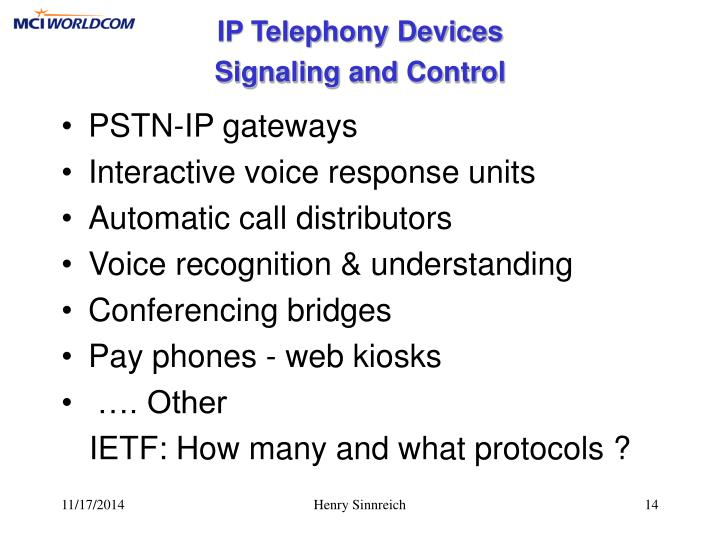 IP Telephony Devices