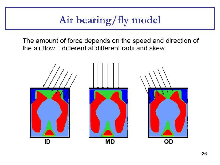 Air bearing/fly model