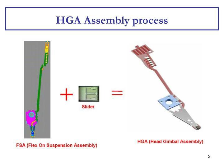 Hga assembly process