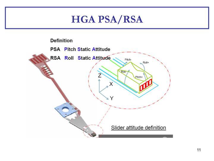HGA PSA/RSA