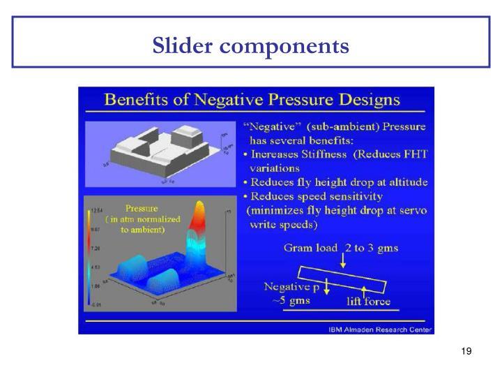 Slider components