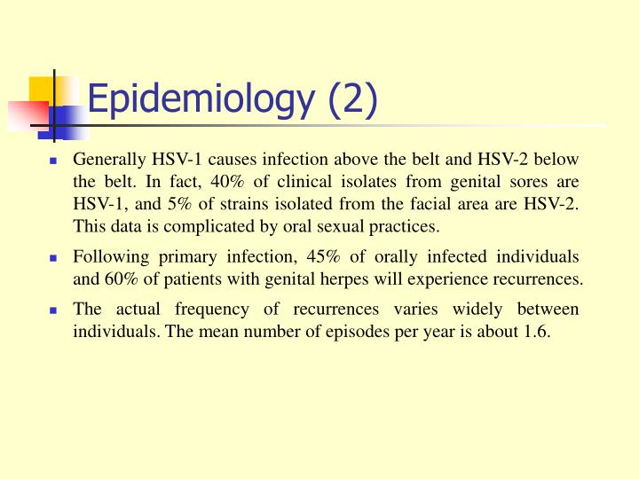 Epidemiology (2)