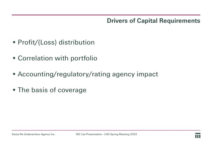 Drivers of Capital Requirements