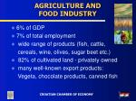agriculture and food industry