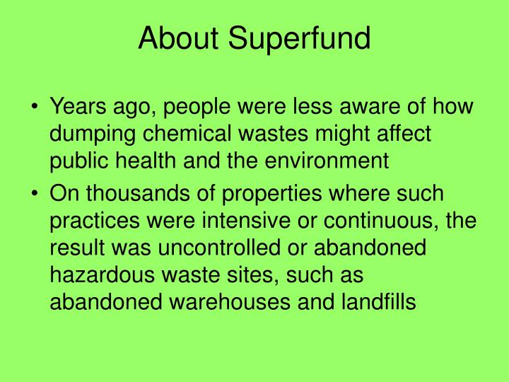 About Superfund