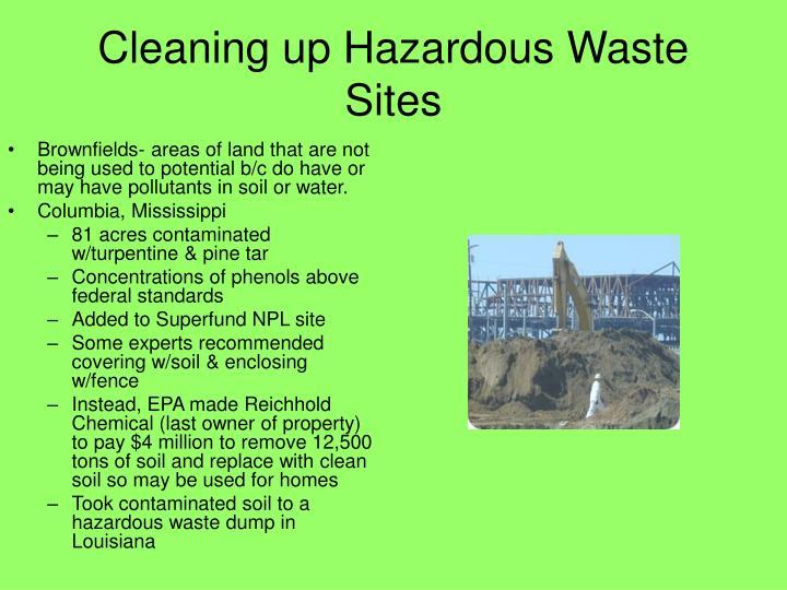 Cleaning up Hazardous Waste Sites