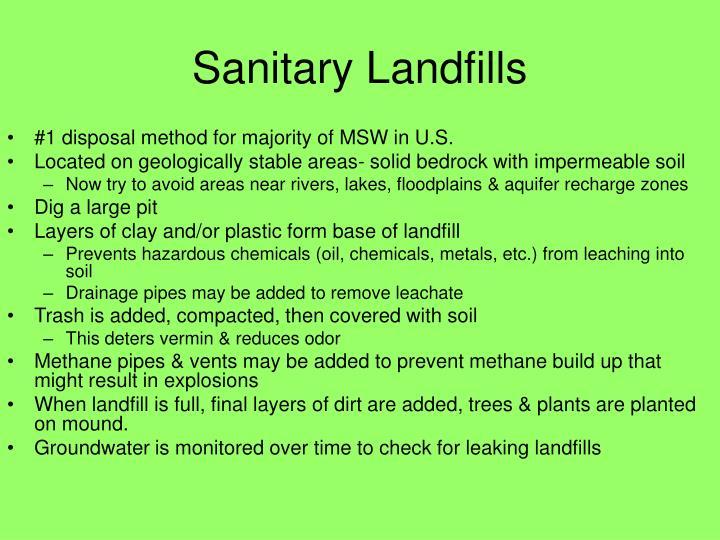 Sanitary Landfills