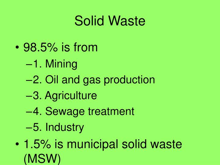 Solid waste1