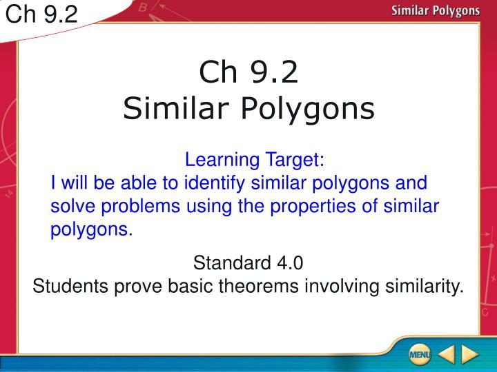 Ch 9 2 similar polygons