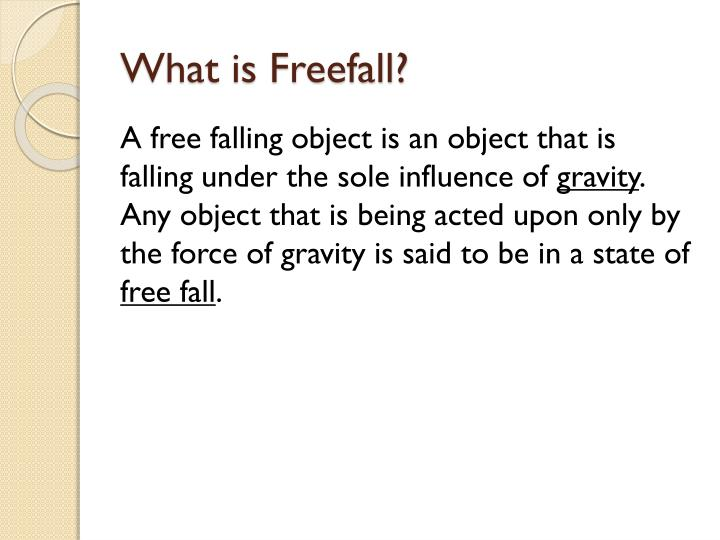 What is freefall