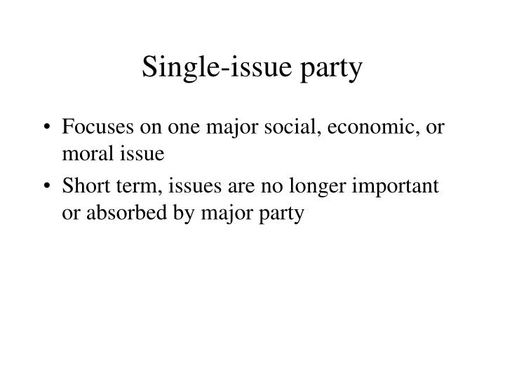 Single-issue party