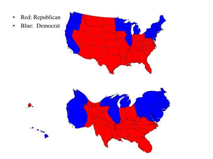 Red: Republican
