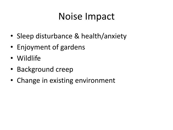 Noise Impact