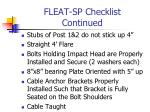 fleat sp checklist continued