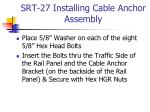 srt 27 installing cable anchor assembly