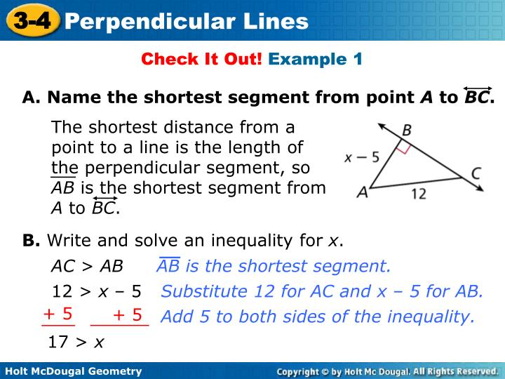 A. Name the shortest segment from point