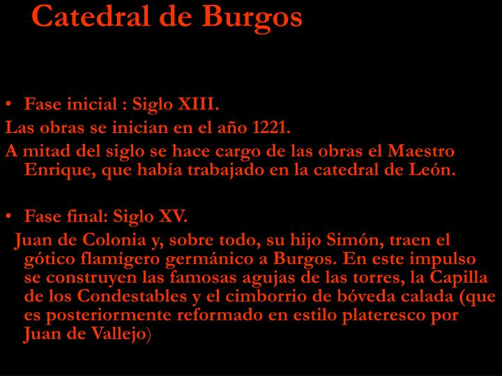Fase inicial : Siglo XIII.