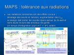 maps tol rance aux radiations1