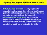 capacity building on trade and environment