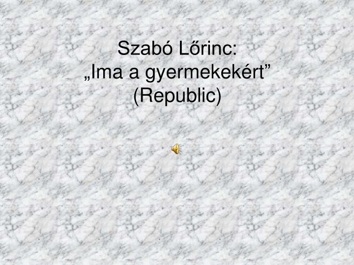 Szabó Lőrinc: