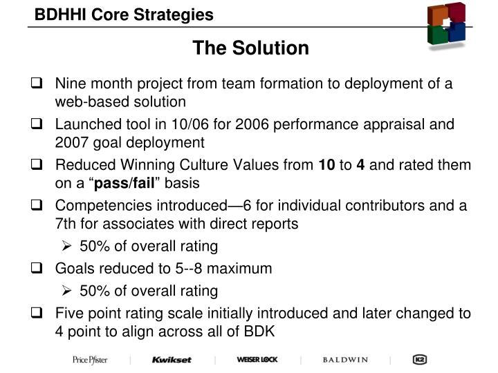 BDHHI Core Strategies
