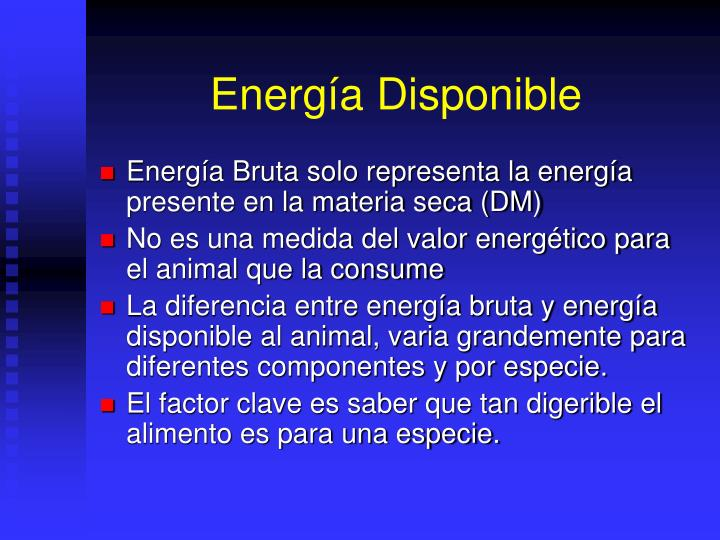 Energía Disponible