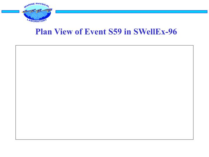 Plan View of Event S59 in SWellEx-96