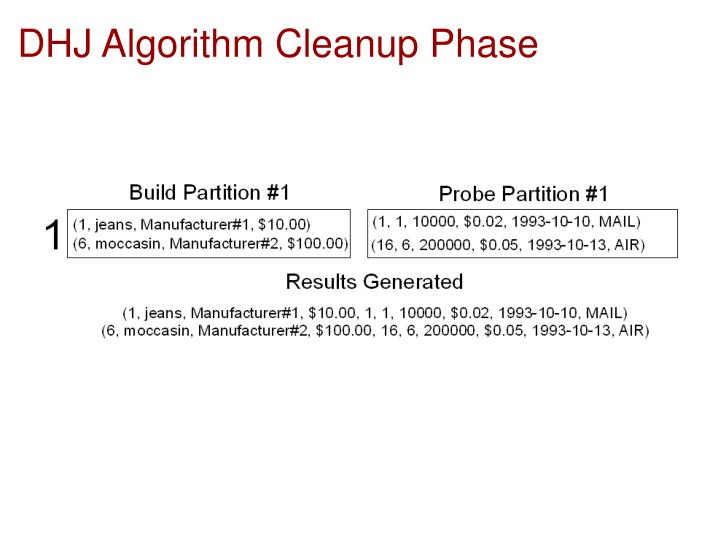 DHJ Algorithm Cleanup Phase