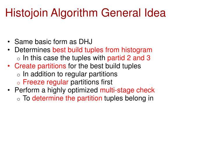 Histojoin Algorithm General Idea