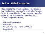 sae vs susar examples