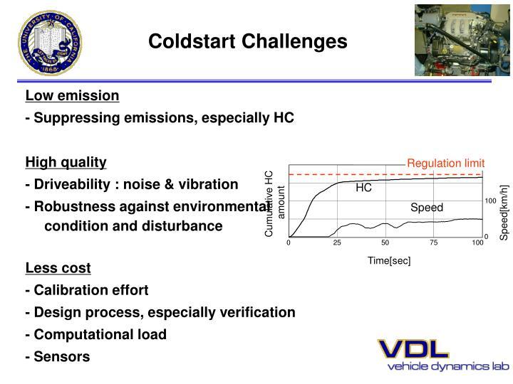 Coldstart challenges