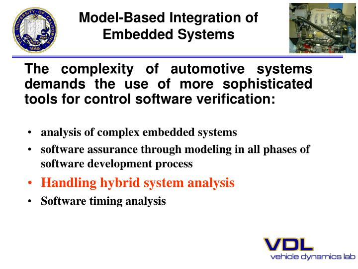 analysis of complex embedded systems