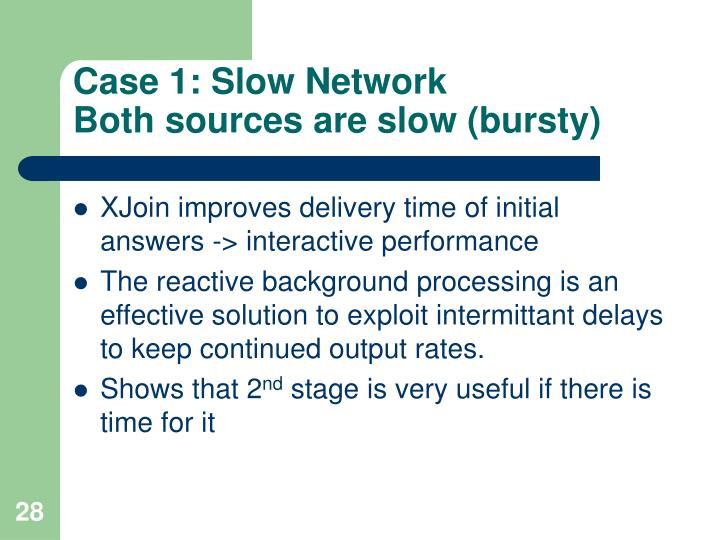 Case 1: Slow Network