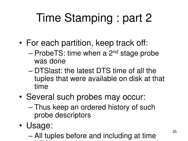 Time Stamping : part 2