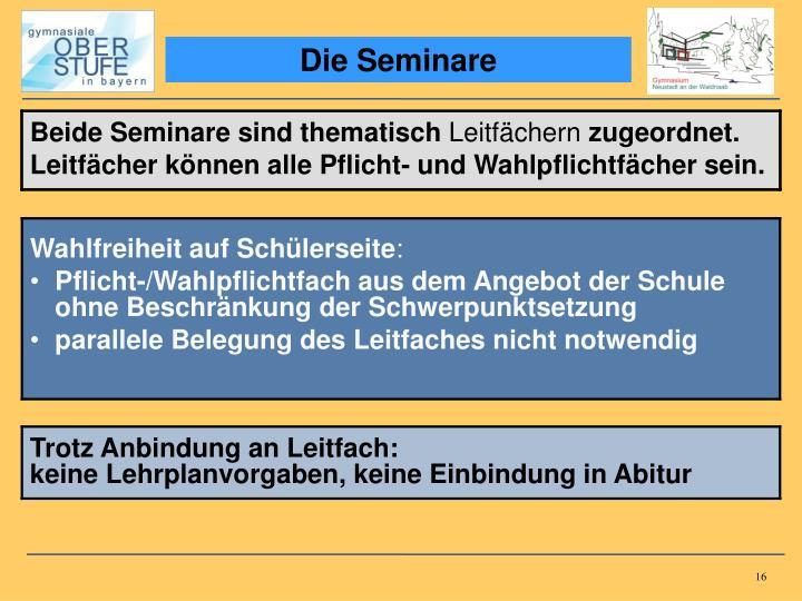 Die Seminare