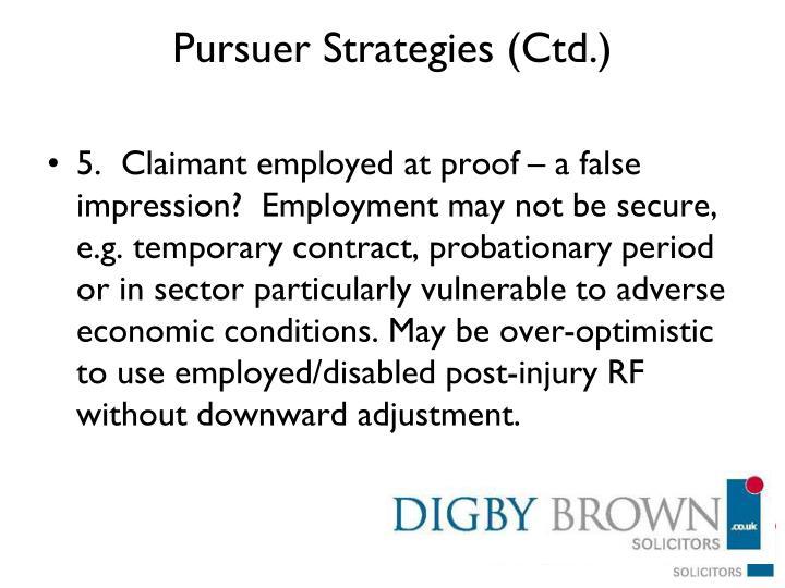 Pursuer Strategies (