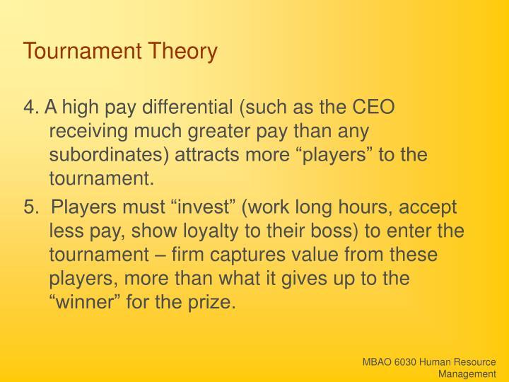 Tournament Theory